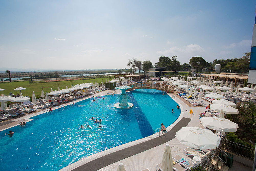 Waterside resort spa